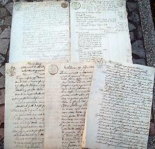 1838 - 1849 LOTTO DOCUMENTI MODENA CARTA BOLLATA UNO PERIODO REPUBBLICA ROMANA