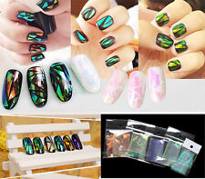 Fashion 5Pcs Manicure Sticker Colored Glaze Aurora Nail Art Designed Decal MJ01