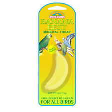 Bird Mineral Stone Calcium Source with Banana flavor for Parakeet Budgie Finch