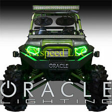 ORACLE Polaris RZR 07-13 GREEN PLASMA Headlight Halo Angel/Demon Eyes Rings