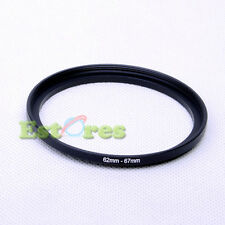 62mm-67mm 62-67 mm 62 to 67 Metal Step-Up Lens Filter Ring Adapter Black