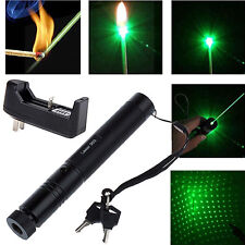 532nm 5mw 303 Green Laser Pointer Lazer Pen Beam+Charger Burning Laser Lazer