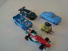 LOT OF 5 DISNEY PIXAR CARS DIECAST CARS DINOCO LIGHTNING MCQUEEN