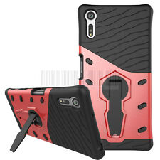 Hybrid Rugged Shockproof Armor Case Stand Rubber Fit Cover For Sony Xperia XZ