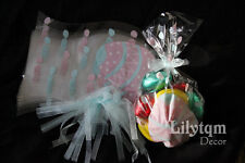 Pack10 Easter Gift Party Presentation Cello Cellophane Bag Eggs with Blue Tie