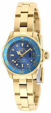 Invicta 21536 Lady's Blue Dial Yellow Gold Steel Dive Watch
