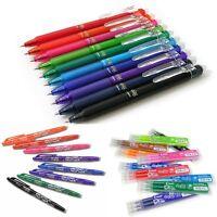 Pilot Frixion Pen Erasable 0.7mm Rollerball Write Heat Erase Pen Refills Availab