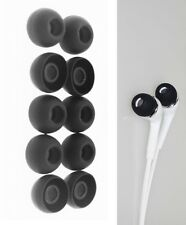 10-Pack In-Ear Size Headphone Soft Silicone Earbud Tips - Small 9mm Black color