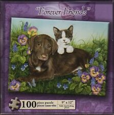 100 PIECE CAT WITH DOG PUZZLE by KARMIN INTERNATIONAL  ~NEW~  #17087