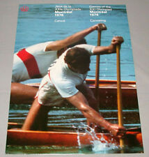 Original Montreal 76 Summer Olympic Official Canoeing Poster
