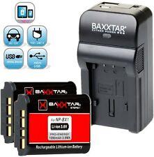Baxxtar RAZER 600 II 5in1 Ladegerät + 2x Baxxtar PRO ENERGY Akku Sony NP-BX1