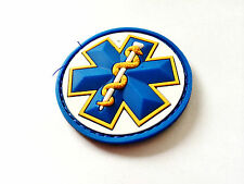 Full Color Tactical Mil-spec Monkey MSM Medic EMT Star Caduceus PVC Patch