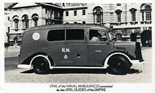 Naval Ambulance Motor Vehicle Girl Guides unused RP old postcard Photo Repro Co