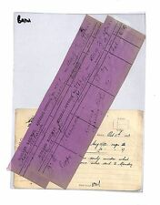 BA161 1893 COAL BY RAILWAY *Rothwell Haigh*Colliery MINERAL INVOICE(x2) Guiseley