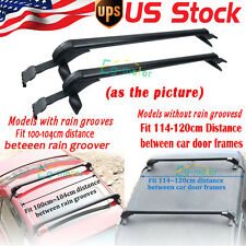 Universal Pair of  Auto SUV Car Roof Top Cross Bars Luggage Cargo Rack Aluminum
