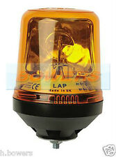 12V/24V SINGLE BOLT/POINT HALOGEN ROTATING/FLASHING AMBER/ORANGE RECOVERY BEACON