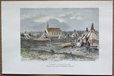 1890 Reclus print TRADING POST OF HUDSON'S BAY COMPANY, CANADA (#30)