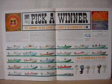 1963 Aluminum Boat Builders many Brands Crestliner Johnson etc VTG Print Ad10369