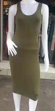 Sexy Olive Green Bodycon Casual/Summer Midi Dress/Top Size 8-10