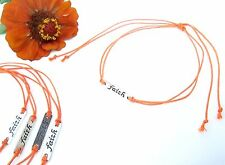 """LOT OF 5 BRACELETS OR ANKLETS: FAITH FOCAL/TIE ON WRIST OR ANKLE/WAXED CORDS/15"""""""