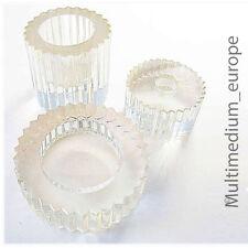 Rosenthal Glas Rauch set Raucher Set Zahnrad Form selten Design signiert