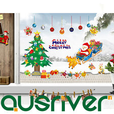 Merry Christmas Xmas Tree Santa Removable Wall Sticker Sets Ornament Decal Decor