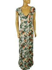 133728 New Kimchi Blue Urban Outfitters Floral Printed Long Maxi Gown Dress L
