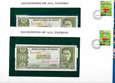 Banknotes of All Nations Bolivia  P154 10 Pesos 1962 UNC Serie S2 2 Consecutive