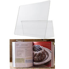 Kitchen Cook Book Stand Transparent Receipe Display Holder Read Rest Plastic NEW