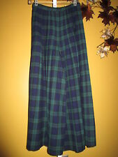 AUTHENTIC VTG Black Watch Jacobsons Wool Plaid Gaucho Pant Skirt  6/8