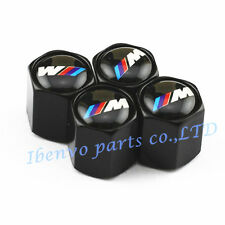 Black Styling Car Metal Wheel Tyre Tire Stem Air Valve Cap For BMW M-Power