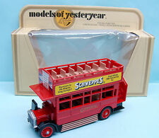 CF16/160 MATCHBOX / MODELS OF YESTERDAY / Y23 1922 AEC S'TYPE OMNIBUS 1/72