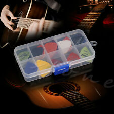 24Pcs Acoustic Electric Guitar Picks Plectrums Assorted Thickness Plastic Box