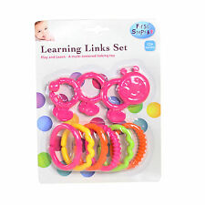 First Steps Baby Learning Links Teething Set - PINK - 12 months+