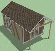 12x18 Shed Plans- How To Build Guide - Step By Step - Garden / Utility / Storage