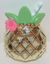 BATH & BODY WORKS PINEAPPLE DRINK SCENTPORTABLE HOLDER CAR VISOR CLIP FRESHENER