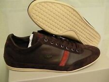 Lacoste shoes misano 22 spm leather/suede dark brown size 9.5 us