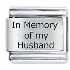 In memoria di mio marito-DAISY da JSC accoppiamenti Classic Taglia Italiana Bracciale con Charm