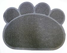 Grey Cats Dogs Paw Print Litter Tray Mat Cat Dog Pet Pets Tidy Clean Rug Potty