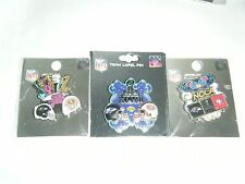 lot 3 2012 Super Bowl Pins Baltimore Ravens San Francisco 49ers Sugg. $29.99