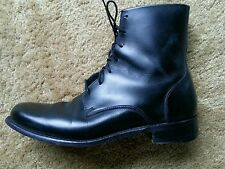 COLE ROOD HAAN Black Leather Women Handmade Ankle Boots Lace Top 9 B