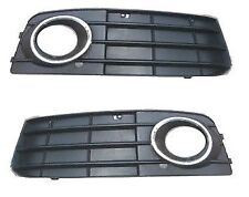 AUDI A4 2007-  Right+Left front bumper lower grilles with fog lights hole 1 SET