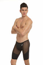 Cuissard Boxer long noir Taille XL  transparent sheer sexy  Ref 319