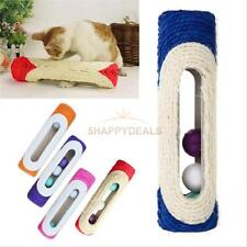 1 Pet Cat Kitten Kitty Toy Rolling Sisal Scratching Post 3 Trapped Ball Training