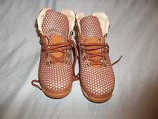 Timberland Mens  10M 43023 2922 Brown White Woven Casual Hiking Boots Shoes 10