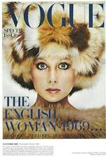 Fashion.. Vogue Magazine Cover Oct. 1969 Patti Boyd