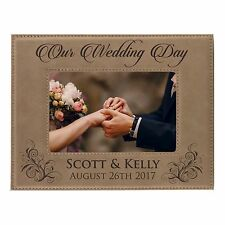 Personalized 8x10 Picture Frame for Wedding Party - Custom Bridesmaid Groomsmen