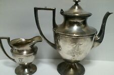 Sheffield Nickle Silver BRS Apollo Teapot And Creamer Made in USA 2 piece set
