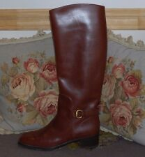 Beautiful Designer GUCCI Ladies Leather Boots 7 New Condition
