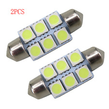 Lot 2pcs White 36mm Festoon 5050 SMD 6 LED C5W Car Led Auto Light Lamp Bulb 12V